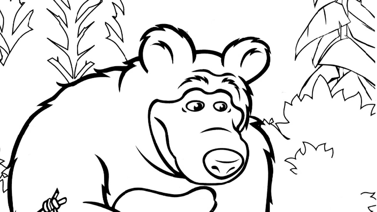 1280x720 Masha And The Bear Coloring Pages