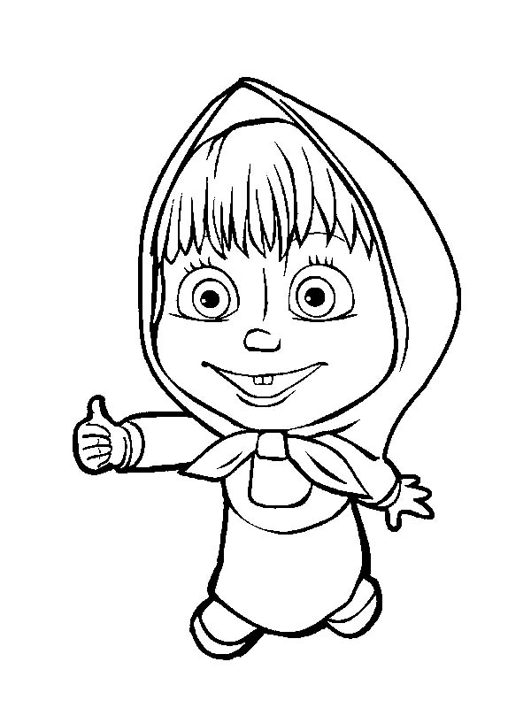 600x800 Masha And The Bear Is Agree With Coloring Pages Color Luna