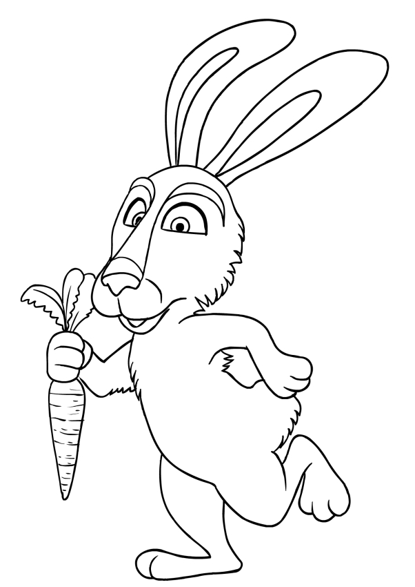 602x850 And Rabbit Coloring Page Printable