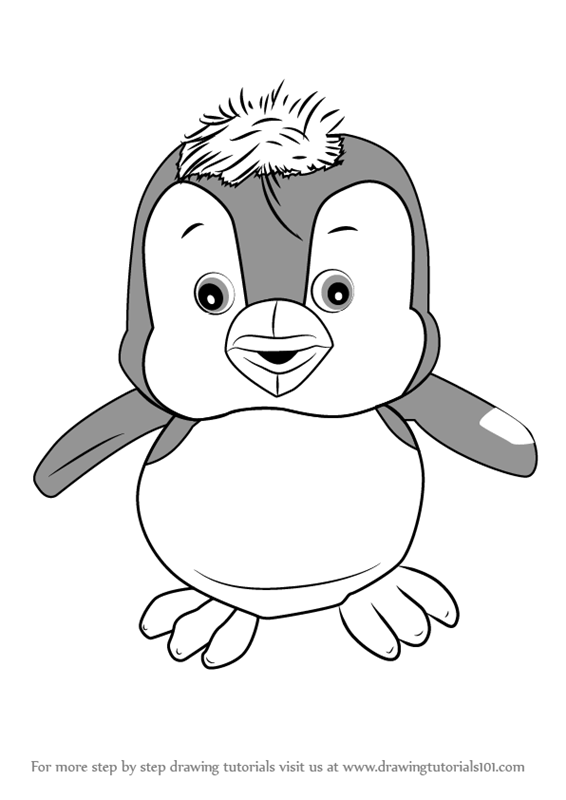 566x800 Learn How To Draw Penguin From Masha And Bear (Masha And