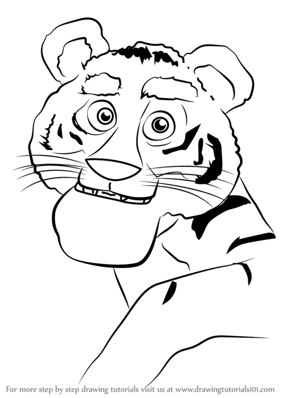566x800 Learn How To Draw Tiger From Masha And Bear (Masha And