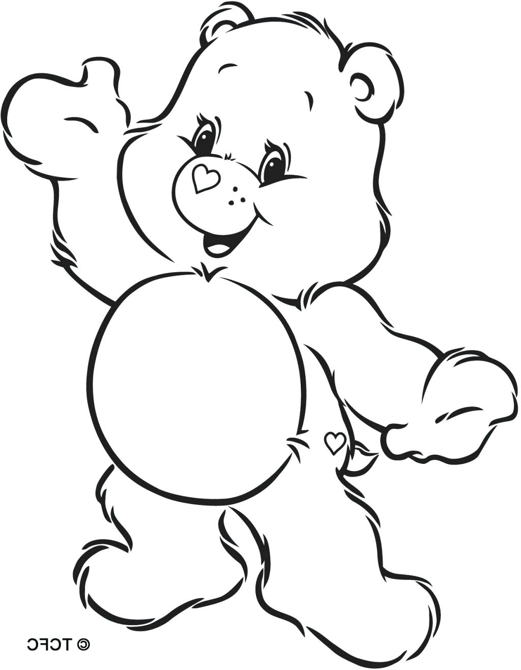 1024x1317 97 Outstanding Bear Coloring Pages Care Bears Grumpy Baby Panda