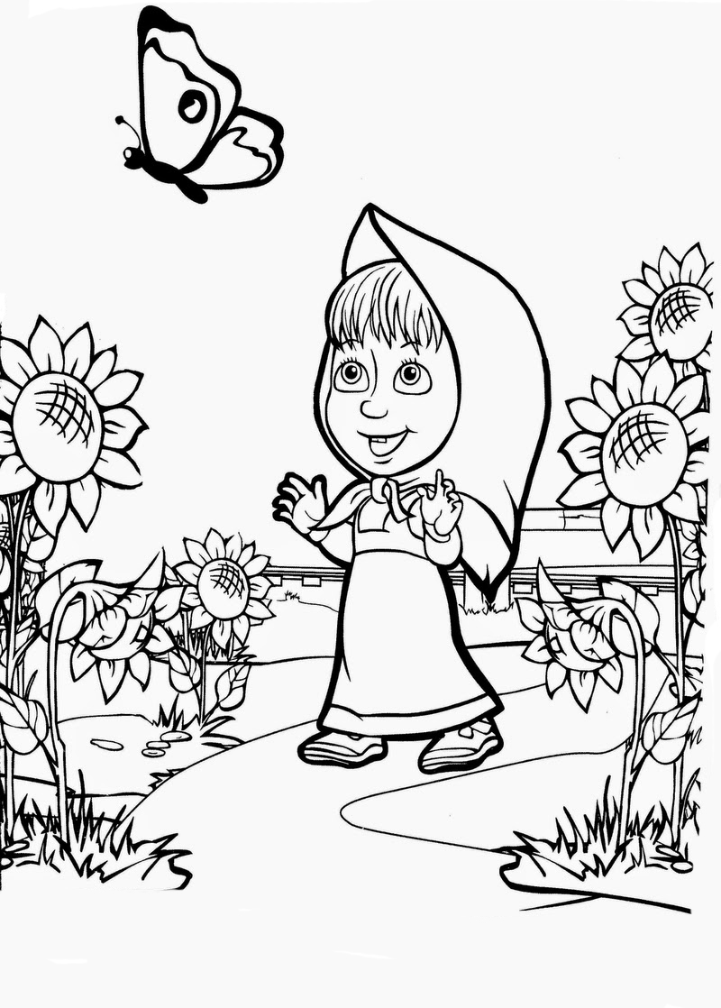 The Best Free Masha Drawing Images Download From 126 Free