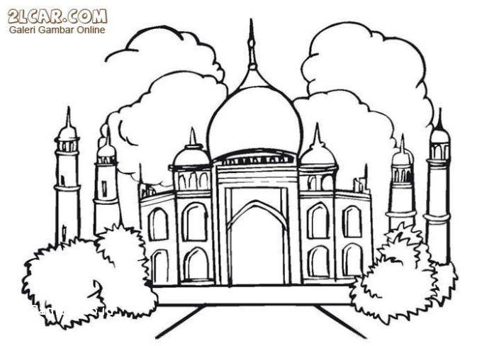 Masjid Mewarnai Png Nusagates