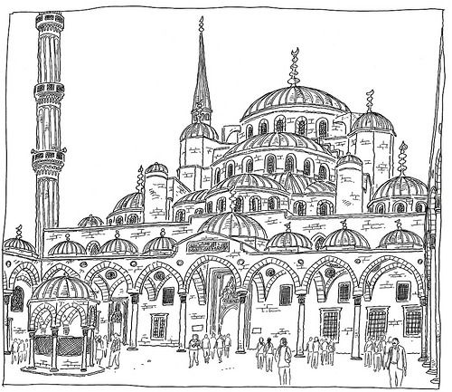 500x433 Turkey, Istanbul, Sultanahmet Camii (Blue Mosque) Blue Mosque