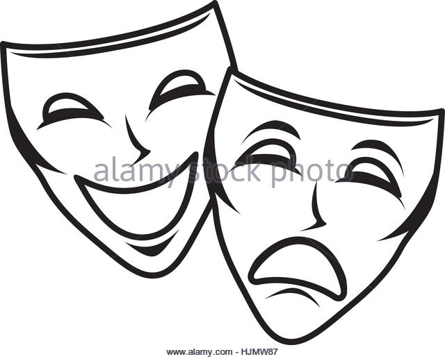 640x517 Drawing Theatre Mask Comedy Icon Stock Photos Amp Drawing Theatre