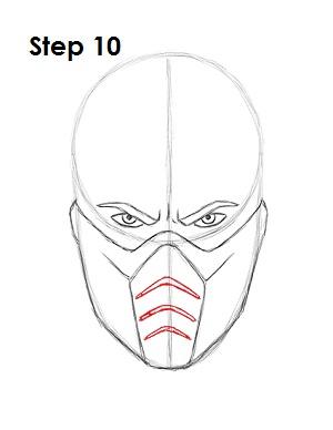 300x388 How To Draw Sub Zero (Mortal Kombat)