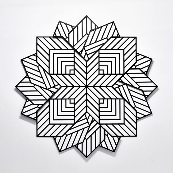 564x564 Hypnotizing Optical Illusion Gifs Made With Tape Illusions, Gifs