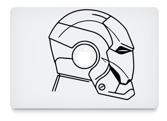 570x414 Iron Man Mask Side View For Mac Laptops Cool Shit
