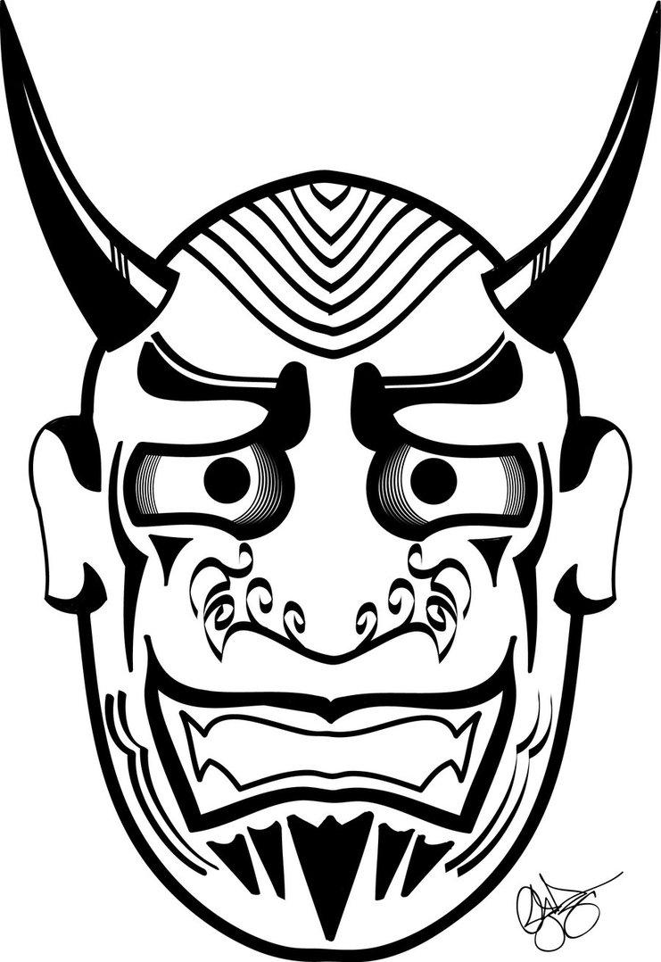 741x1078 Oni Noh Mask Masks Masking
