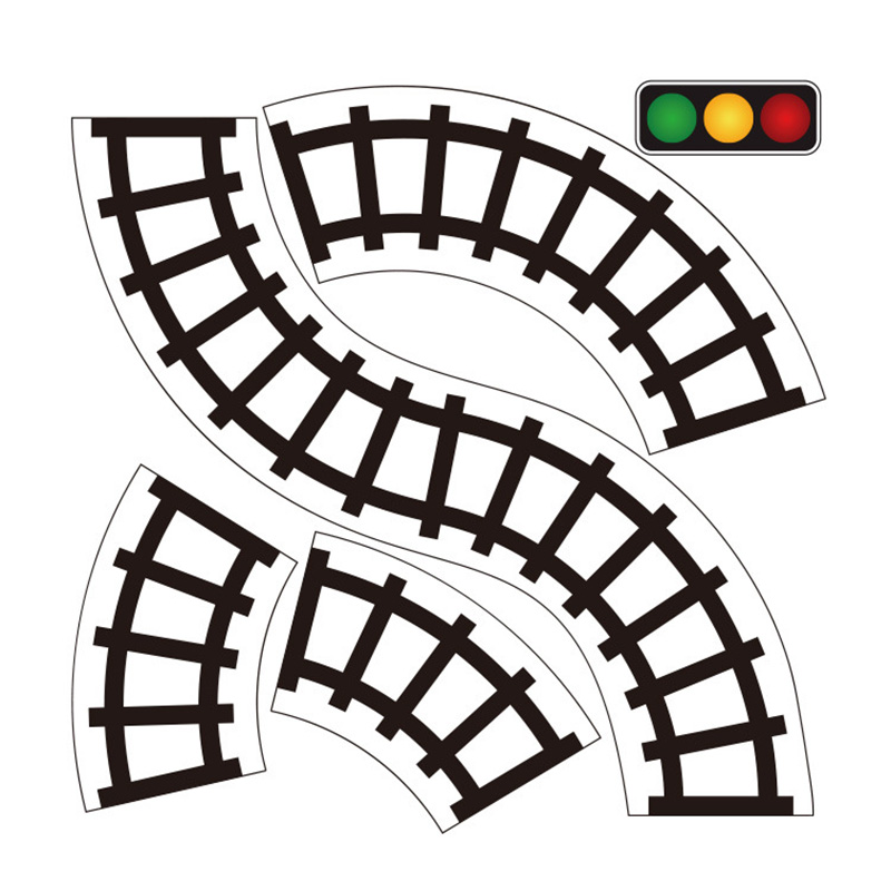 800x800 Railway Road Washi Tape Sticker ,wide Creative Traffic Road