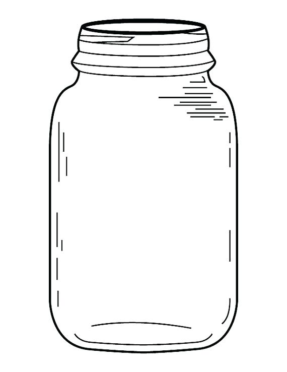 570x738 Free Mason Jar Clipart Mug Jar Sketch Or Drawing Vector Icon Free