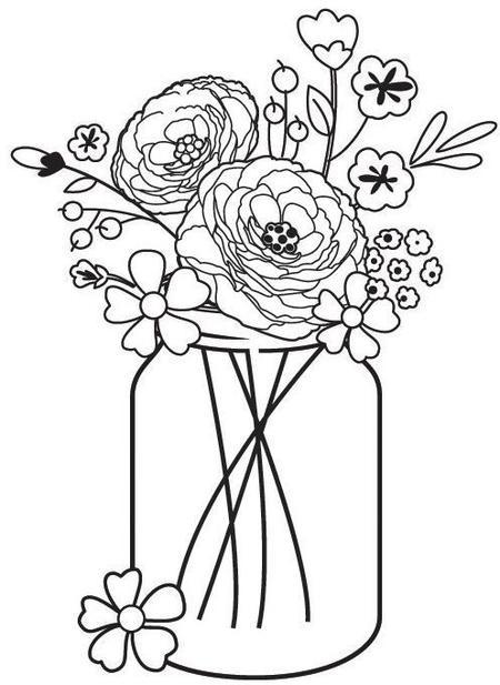 450x617 Hampton Art Cam And Chloe Mason Jar Bouquet