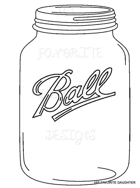 570x763 Plain Black Amp White Mason Jar Inspired By Favoritedaughterdz