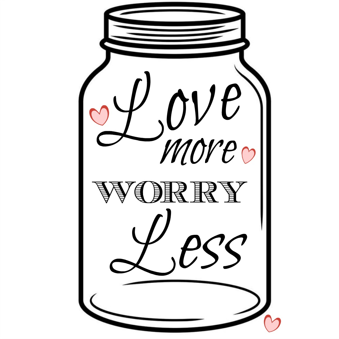 1152x1152 Clear Cut Crystal Designs Love More, Worry Less Wooden Sign