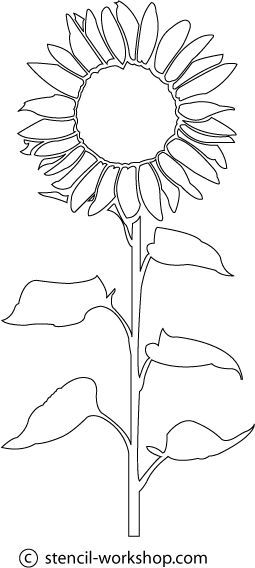255x568 Image Result For Sunflower Template Craft Stuff