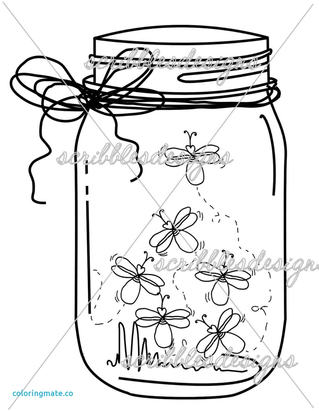1024x1319 Mason Jar Coloring Page New Firefly Jar Coloring Page Best Photos