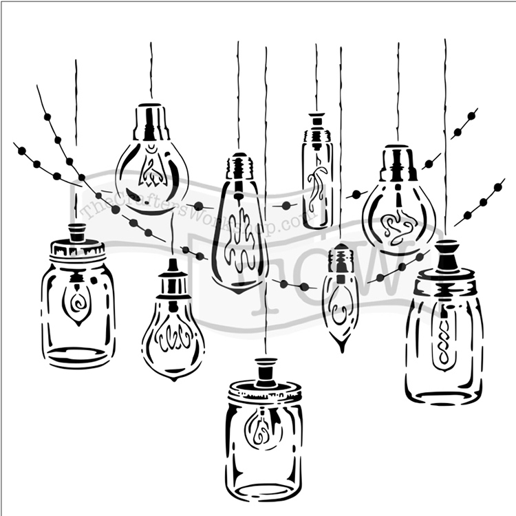 750x750 The Crafters Workshop Party Lights 6x6 Doodling Templates