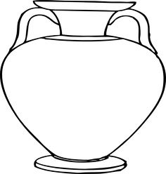 236x248 Vase Pattern. Use The Printable Outline For Crafts, Creating