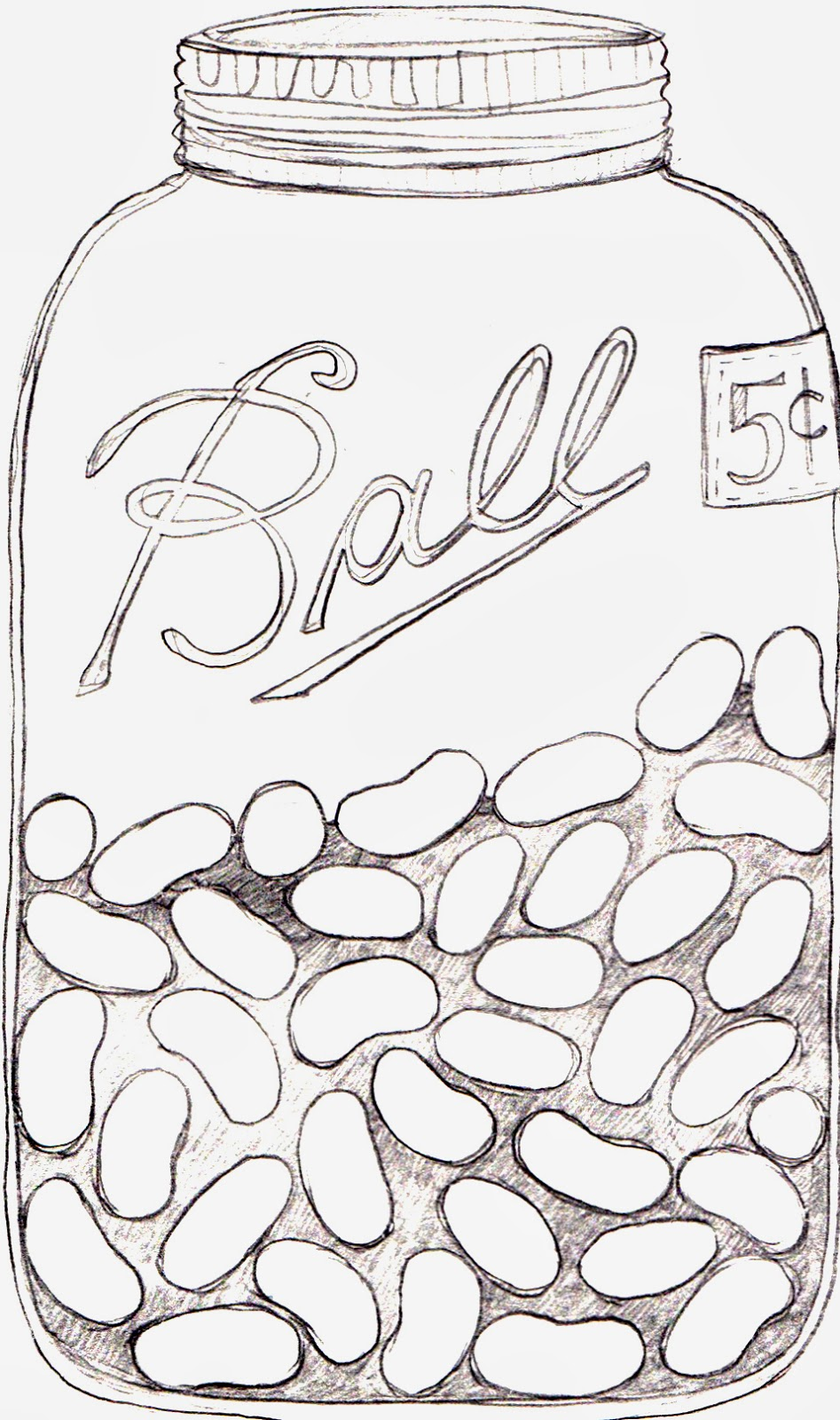 947x1600 Drawn Mason Jar