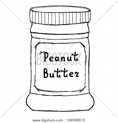 450x470 Peanut Butter Jar. Sketch Vector Amp Photo Bigstock