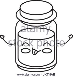 304x320 Mason Jar Bottle Kawaii Character Stock Vector Art Amp Illustration
