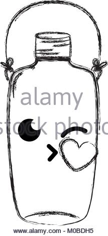 215x470 Mason Jar Kiss Kawaii With Wire Handle Stock Vector Art