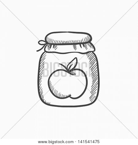 450x470 Apple Jam Jar Vector Sketch Icon Vector Amp Photo Bigstock