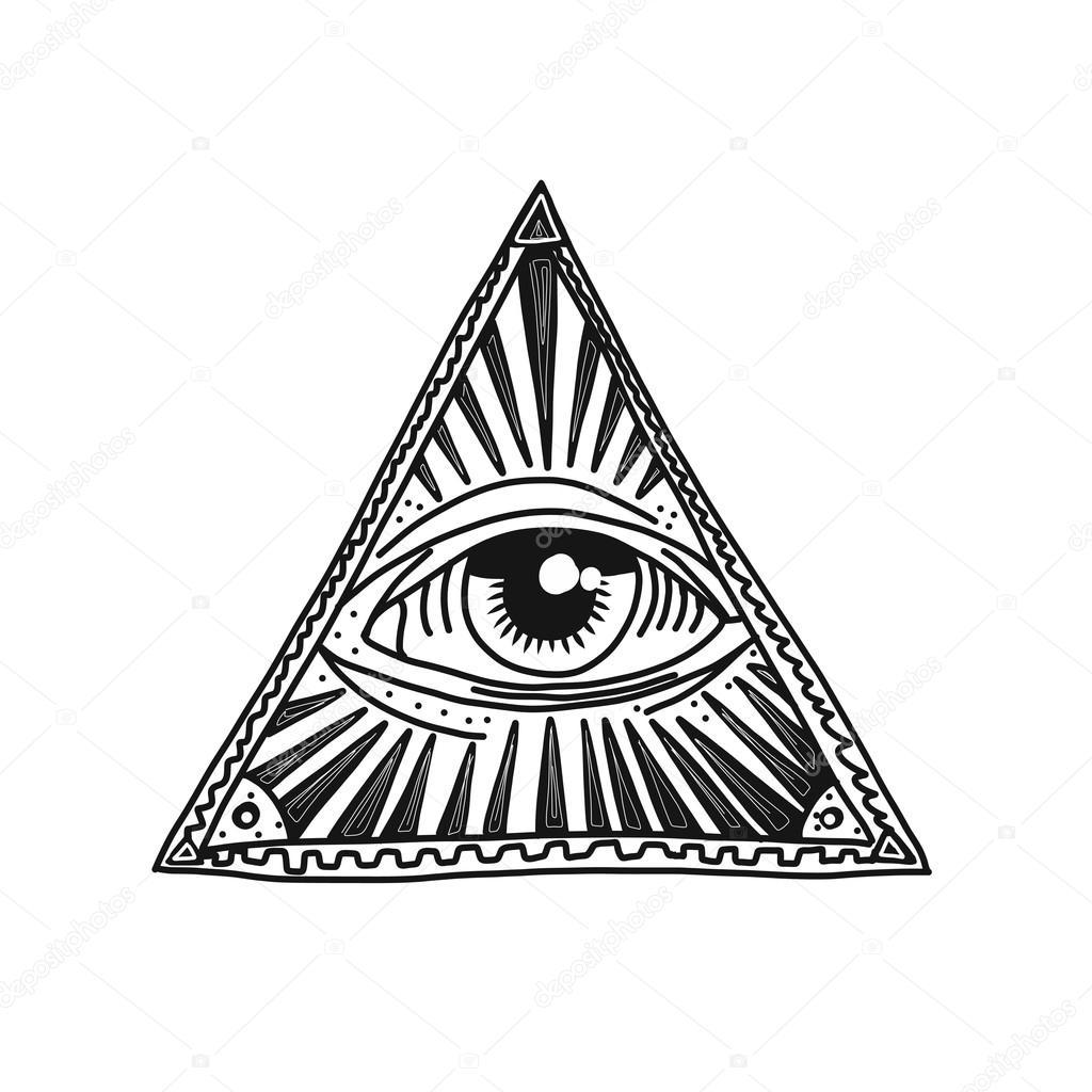 1024x1024 Hand Drawn Masonic Symbol Stock Vector Shekaka