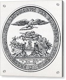 222x270 Masonic Seal Engraving From The Book Drawing By Vintage Design Pics