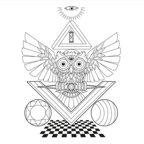 480x480 Owl Square Compass Masonic Light Prince Hall Affiliated