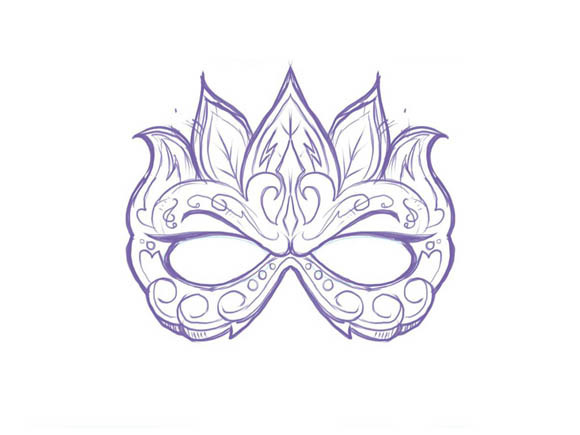 Masquerade Mask Drawing At GetDrawings