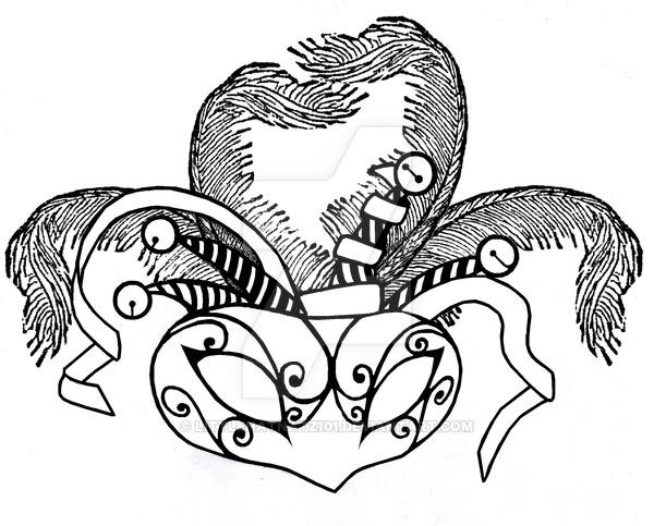 600x483 Black And White Masquerade Masks Drawings