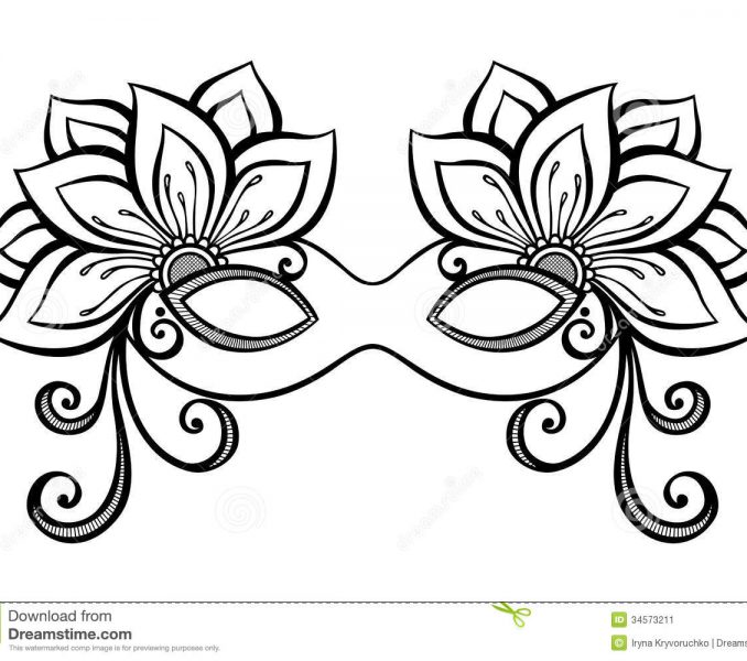 678x600 Masquerade Mask Coloring Pages Kids Coloring
