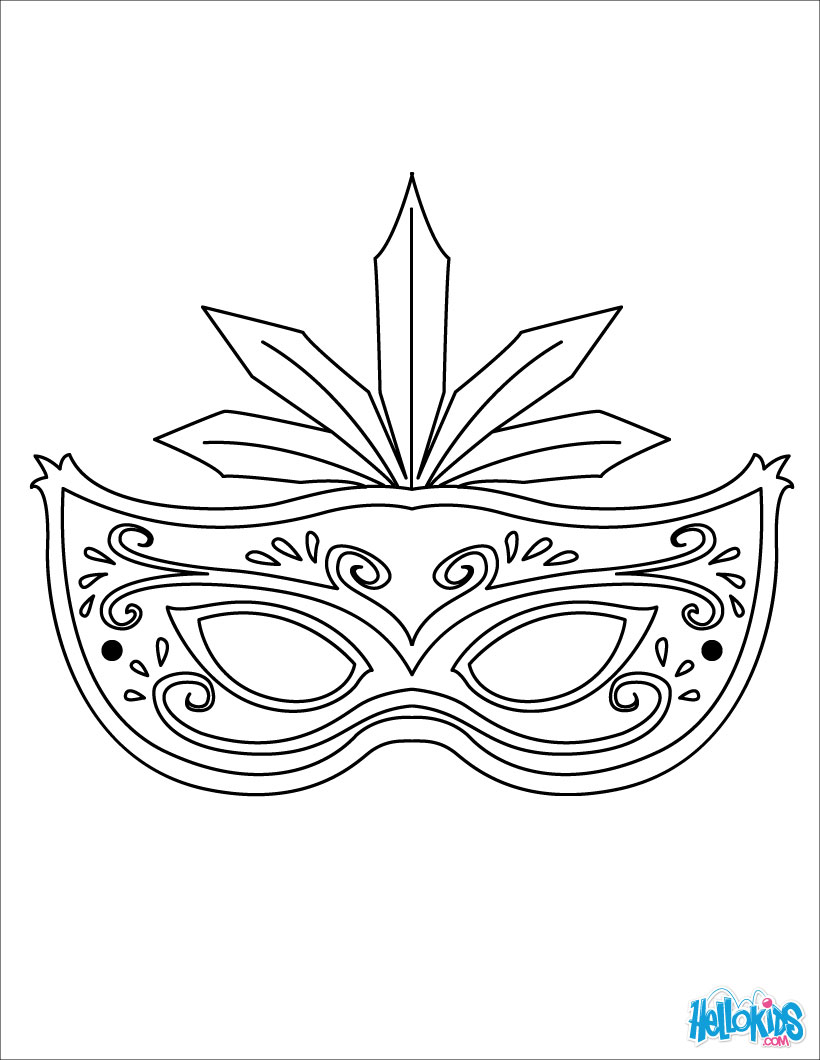 820x1060 Masquerade Mask Coloring Pages