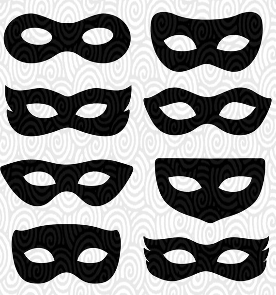 570x609 Black Eye Mask Drawing Mask Printable Template