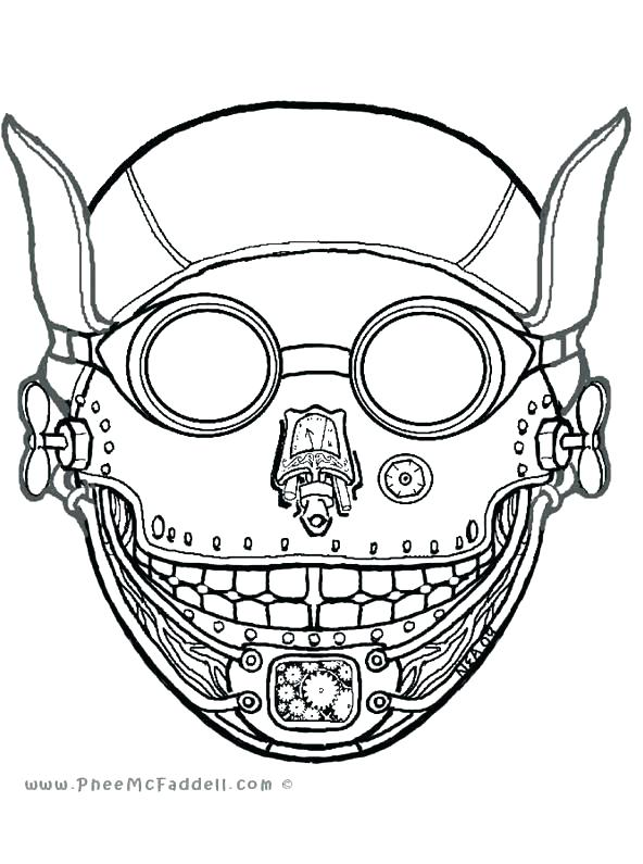 592x795 Stunning Mask Coloring Pages Free Download Masquerade Masks