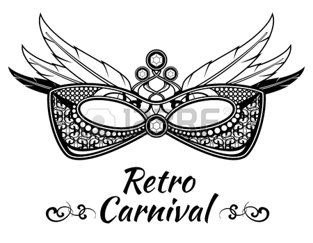 450x350 Carnival Animals Face Vector Masks In Flat Style. Masquerade