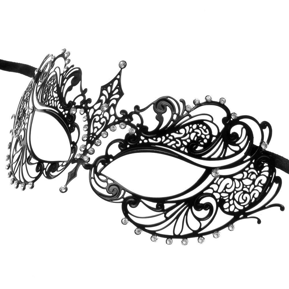 1000x1000 Darker Collection Metal Masquerade Mask Women M7117
