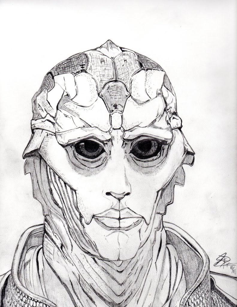 791x1024 Thane (Mass Effect 2) Finished!
