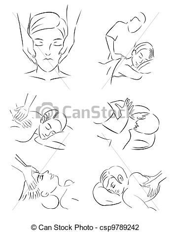 347x470 Massage Theraphist Vector Illustration