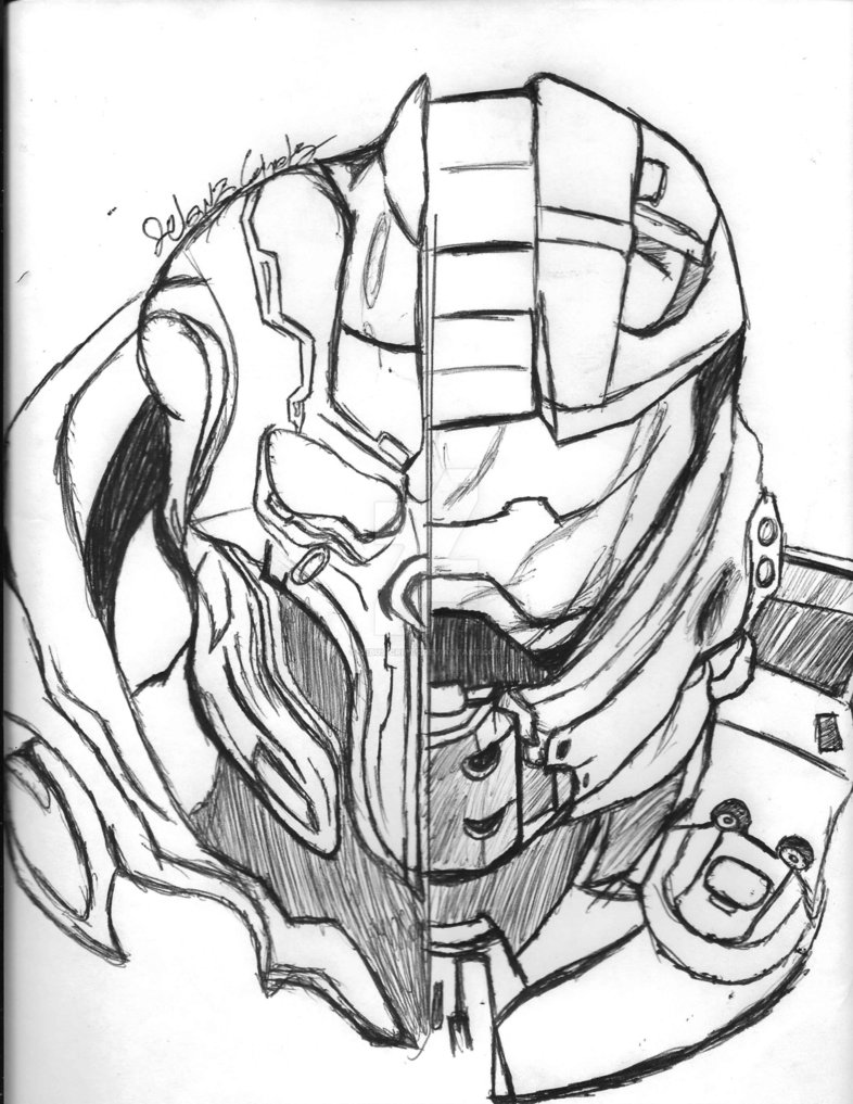 Master Chief Drawing