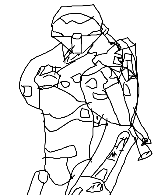 529x638 Master Chief Drawing (1 Month Of Work) Gaming