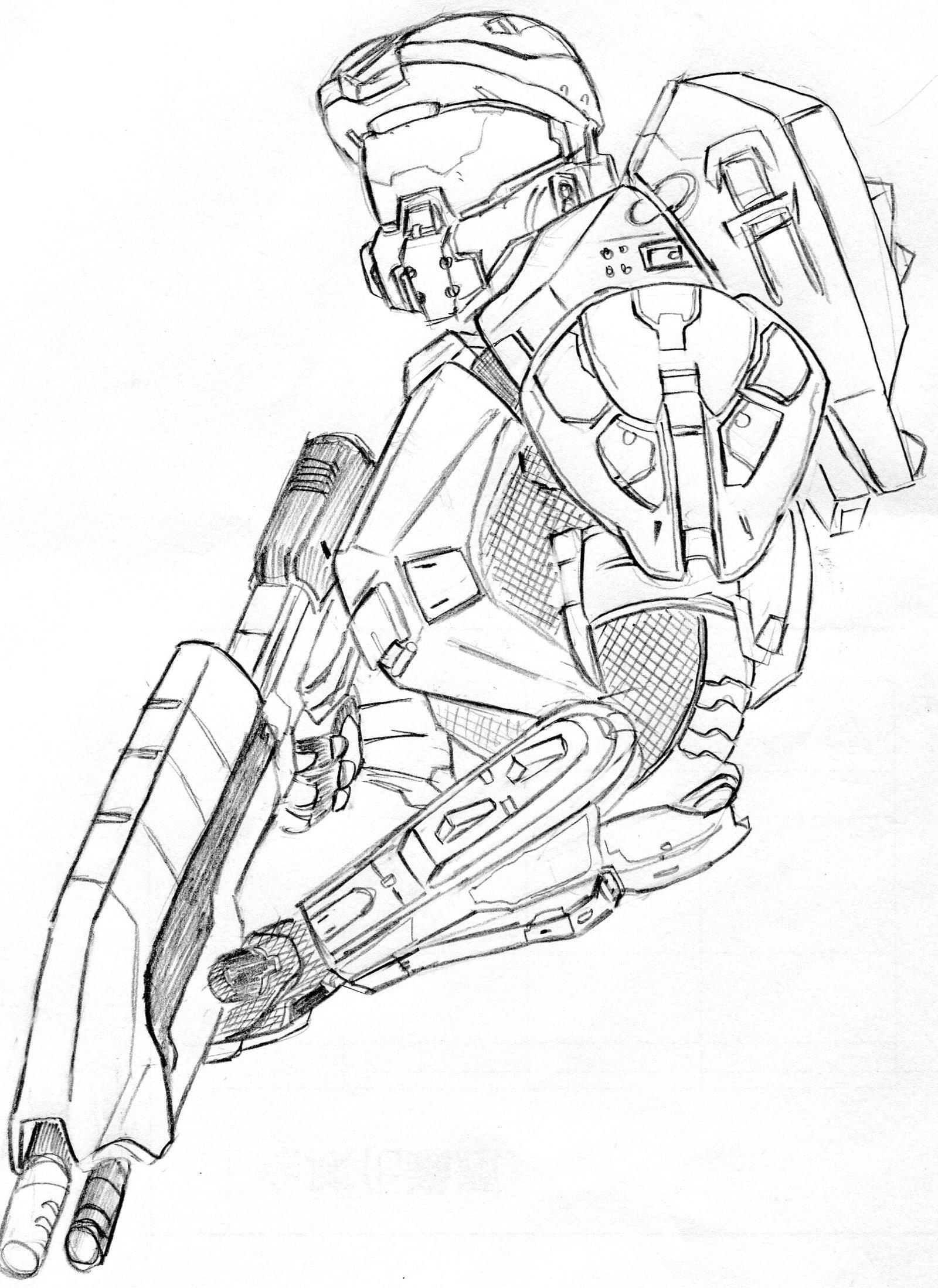 Master Chief Drawing At Getdrawings