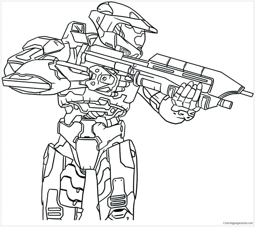 863x767 Halo Coloring Book Halo Coloring Pages Halo Master Chief Coloring