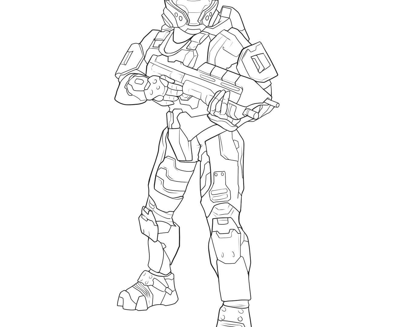 1301x1080 Coloring Page Of Halo