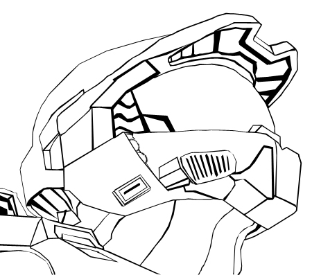 450x397 Master Chief Lineart By Inficiopalma