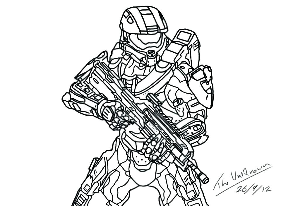 960x704 Master Chief Coloring Pages Murs