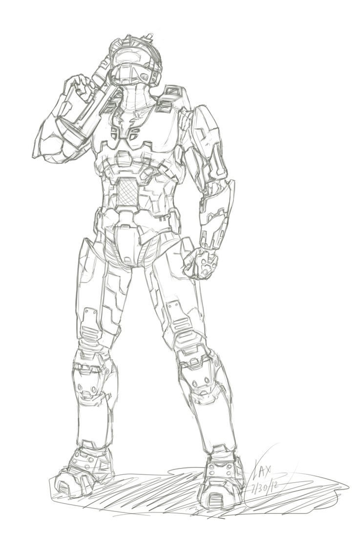 733x1090 Master Chief Sketch