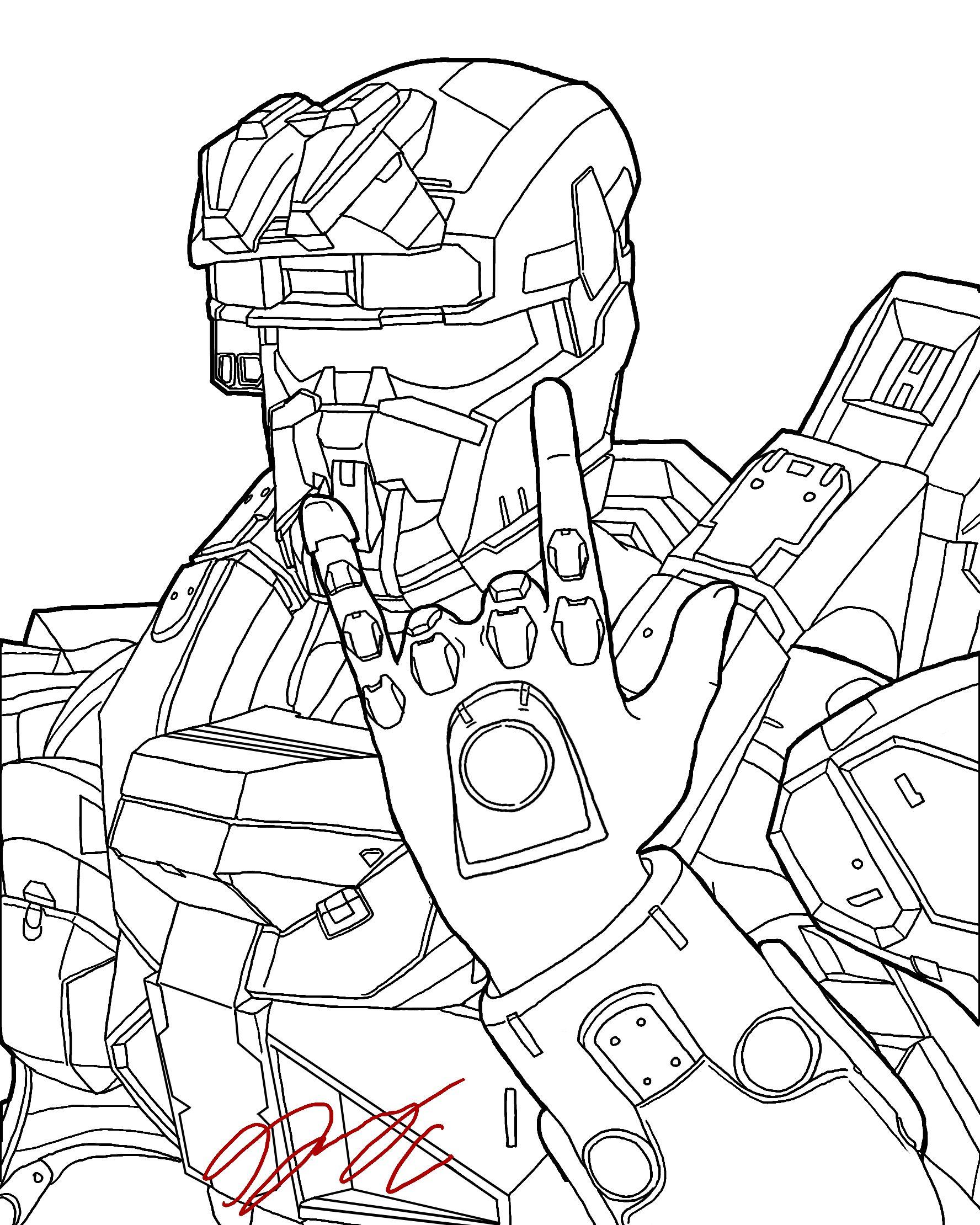Master Chief Helmet Drawing At Getdrawings
